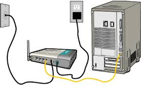 installing and configuring a wireless home network using a d link figure depicting the d link router ethernet connection