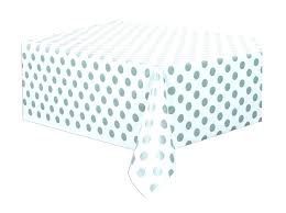 get ations a silver polka dot plastic tablecloth black and white round tablecloths blue