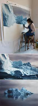 awesome art mind ing painting of icebergs