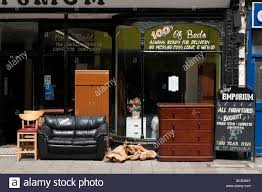 second hand furniture shop london england uk stock photo royalty