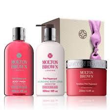 molton brown uk pink pepper shower gel body lotion scrub gift set div a