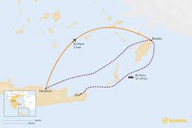 crete to rhodes best routes travel