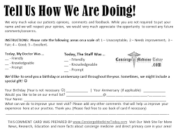 Comment Cards Inside Your Practice Dealing With The Unhappy Concierge Medicine