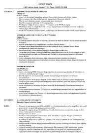 kitchen designer resumes interior designer resume sample template design student cv word