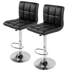 leather bar stools with arms. Best Choice Products Set Of 2 PU Leather Adjustable Bar Stools Counter Swivel Barstool Pub Black - Walmart.com With Arms
