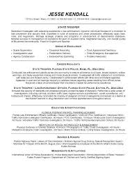 Law Enforcement Resume Best Law Enforcement Resume Template Police Recruit Examples Templates