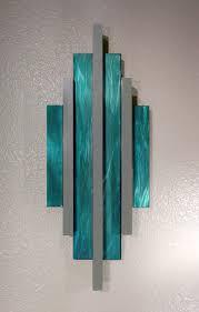 seafoam green metal wall art