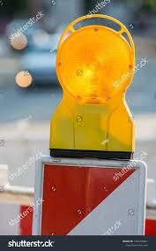 Road Construction Lights Securing Road Construction Site Warning Lights