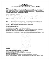 teaching-artist-resume
