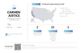 Carmen Justice, (661) 588-4635, 517 Reed St, Bakersfield, CA   Nuwber