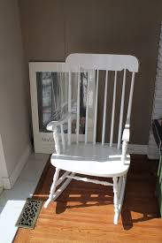white wooden rocking chair. White Wooden Rocking Chair. I Got One For Xmas/birthday? Year - Must Have Been About 13 Or 14. Chair A