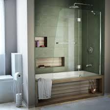 Glass Doors For Bathtub Dreamline Aqua 48 In X 58 In Semi Framed Pivot Tub And Shower