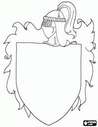 Wapen Van Een Middeleeuwse Ridder Te Versieren Kleurplaat
