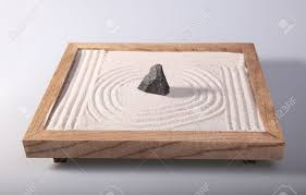 mini zen garden japanese home decoration in studio stock photo 16496266