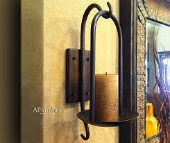 alluring iron candle wall sconce tuscan decor tuscan alhambra iron wall sconce candle holder
