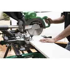 hitachi 10 miter saw. hitachi c10fshps 10 in. sliding dual compound miter saw with laser guide