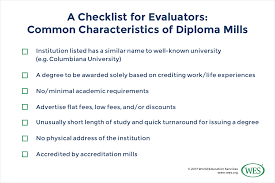diploma mills strategies for tackling one of higher education s  2 ensure familiarity accreditation agencies