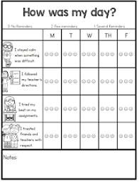 2nd Grade Behavior Chart Individual Behavior Chart Freebies Teacher Trinitys 2nd