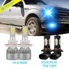 2006 Ford F150 Fog Light Bulb Size Details About 4x Cob Combo H13 Led Headlight Hi Low 9145 Fog Light For Ford F 150 04 14 8000k