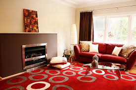 Red and Brown Living Room contemporary-living-room