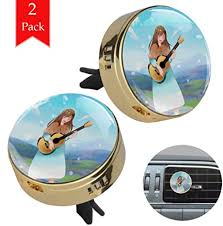 <b>Cartoon Girl</b> Playing Guitar 2PCS <b>Car Aromatherapy Essential Oil</b> ...