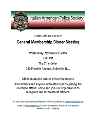 come enjoy good food and learn about how you can support law enforcement officers by joining the italian american police society of new jersey