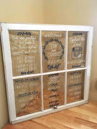 Wedding Window Program Or Seating Chart Custom Made