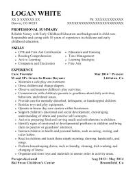 Care Giver Resume Impressive Best Special Needs Caregiver Resumes ResumeHelp