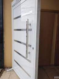 Até r$ 6.900 preço máximo que os profissionais nos passaram para os trabalhos de portas de madeira. Porta Pivotante De Aluminio Branco Linha 30 Completa Jamil Portas