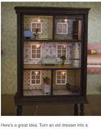 Pin by Aimee Burkhardt on Furniture Redone | Diy dollhouse, Old dressers,  Diy doll
