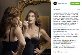 slew of people. caitlyn jenner\u0027s mac lipstick gets stunning instagram reveal \u2014 and a slew of ugly comments people