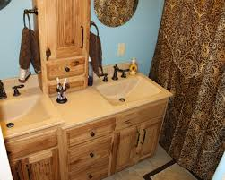 double sink bathroom vanity. rustic double sink bathroom vanity under shelf and floral shower curtain in minimalist ideas