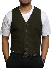 brandslock mens genuine leather waistcoat smooth goat suede classic smart at men s clothing