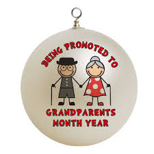 Personalized Being Promoted To Grandparents New Grandmother or Grandfather Christmas  Ornament Custom Gift #1