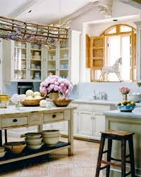 kitchen captivating shabby chic kitchen decor with wood arched window also distressed wooden island captivating