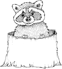 Small Picture Free Raccoon Coloring Pages