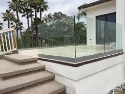 tempered glass railing rancho santa fe