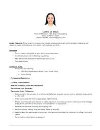 Job Objective On Resume Medium Size Of Resume Sample New Resume
