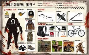 Zombie Survival Chart A Zombie Survival Chart Zombie Apocalypse Team Zombie