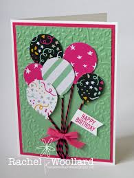 Balloon Birthday Card Design More Balloons This Time Punched Using The Balloon Punch