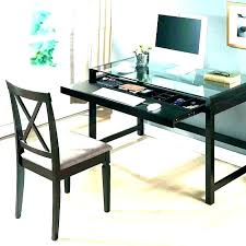 glass desk with drawers small glass top desk glass desk with drawers l shaped glass desk