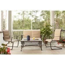 gratis patio furniture home depot design. Hampton Bay Belleville Padded Sling 4-Piece Patio Seating Set Gratis Furniture Home Depot Design R