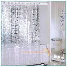 clear top hookless shower curtain