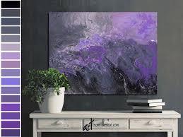 abstract canvas wall art purple plum