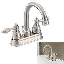 aquaplumb two handle high arc bathroom faucet swivel spout satin nickel greydock com