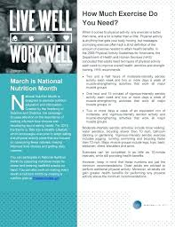 Wellness Newsletter Templates Health And Wellness Newsletter Template Free Safety