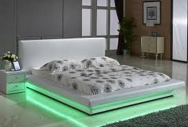 platform beds with lights. Simple With Exton Bed With Green LED Lights To Platform Beds Furniture Stores Los Angeles