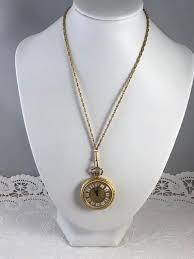 vintage bucherer 17 jewel swiss pendant