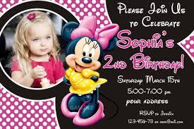 Sample Birthday Invitation Luxury Personalized Minnie Mouse Birthday