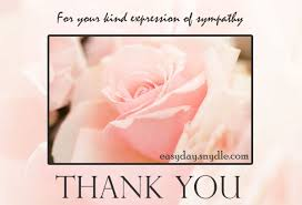 Thanks For Your Sympathy Messages Sympathy Thank You Notes Wordings ...